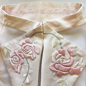 hand embroidered Tokyo roses