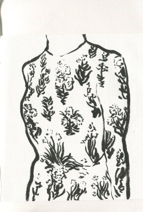ink brush dress