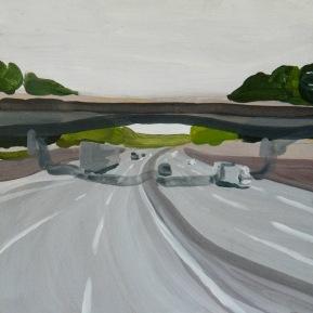 Mirabilia Highway#2. Acrylic on wood, 40x40