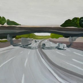 Mirabilia Highway#2. Acrylic on wood, 40x40