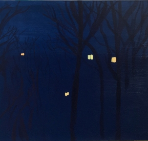 Mirabilia Nightscape#1. Acrylic on wood, 40x40