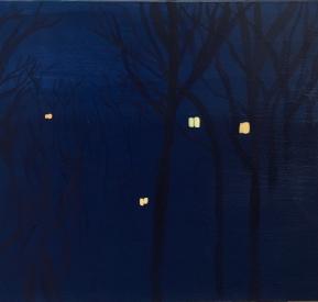Mirabilia Nightscape#1. Acrylic on wood, 40x40