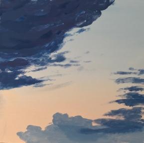 Mirabilia Sunset#1. Acrylic on wood, 40x40