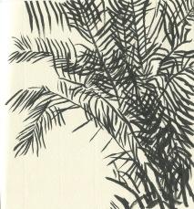 ink brush palms